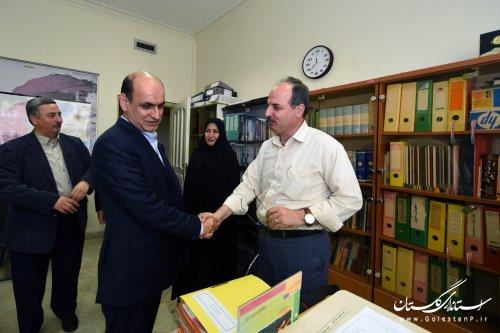 بازدید استاندار گلستان از بخش های مختلف استانداری و زیرمجموعه