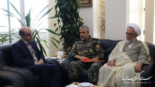 دیدار فرمانده قرارگاه عملیاتی لشکر 30 پیاده گرگان با استاندار گلستان