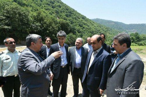 بازدید استاندار گلستان از پایلوت مدیریت جامع حوزه چهل چای مینودشت