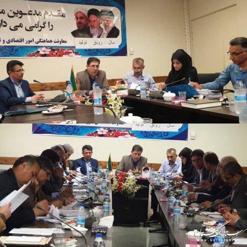 برگزاری هفتمین جلسه کارگروه استانی بررسی پرونده های خسارت دیدگان بخش کشاورزی سیل استان گلستان