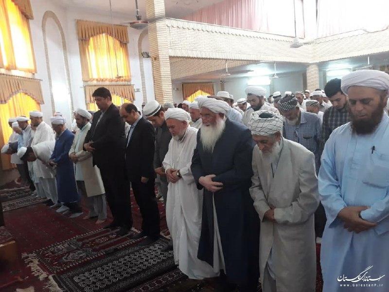 حضور استاندار گلستان در نماز جمعه شهرستان آق قلا