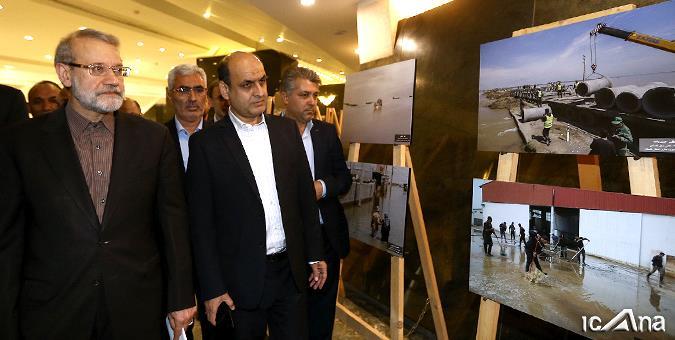 رییس مجلس و استاندار گلستان از نمایشگاه عکس سیل استان دیدن کردند