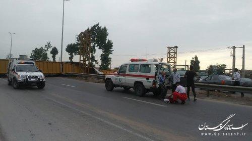 امدادرسانی به حادثهدیدگان سقوط پل عابر پیاده در گلستان