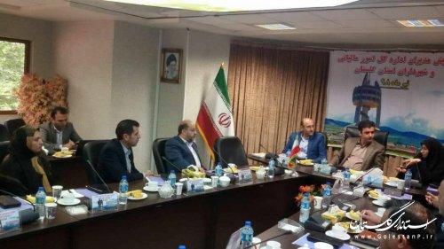 نشست مدیر کل امور شهری و شهرداران استان با مدیران دارایی و مالیاتی استان گلستان