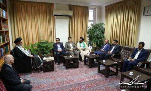 دیدار مدیر کل راه آهن منطقه شمالشرق ۲ با نماینده ولی فقیه در استان گلستان