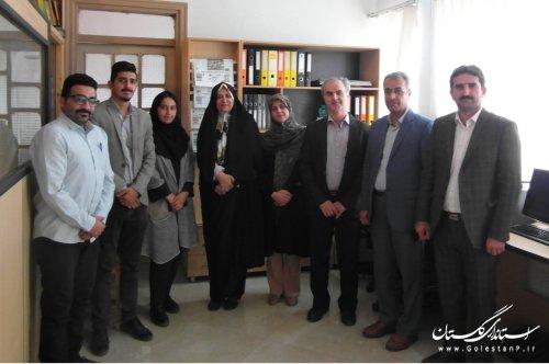 بازدید مدیرکل فرهنگ و ارشاد اسلامی گلستان از دفتر روزنامه گلشن مهر