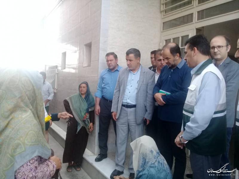حضور دبیر و اعضای کمیته نظارت و بازرسی قرارگاه ملی بازسازی و نوسازی مناطق سیل زده در گلستان