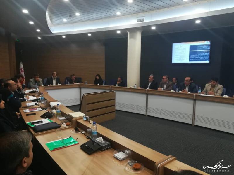 ارائه گزارش اقدامات بعد از سیل توسط اعضای شورای هماهنگی امور راه و شهرسازی استان گلستان