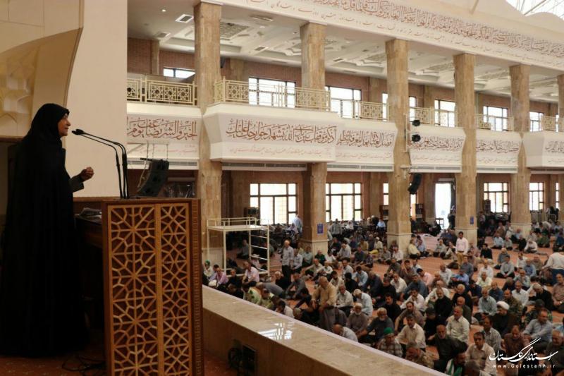 سخنرانی مدیرکل فرهنگ و ارشاد اسلامی گلستان در مصلی نماز جمعه گرگان