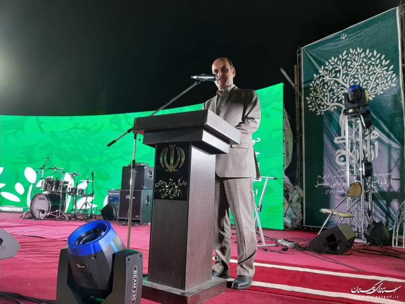استاندارگلستان در افتتاحیه نخستین جشنواره ملی ازدواج اقوام ایران زمین: شرط اصلی موفقیت در جامعه موفقیت در خانواده است