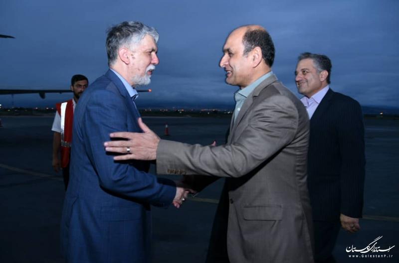 وزیر فرهنگ و ارشاد اسلامی وارد استان گلستان شد