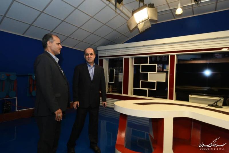 حضور استاندار گلستان در خبرگزاری صدا و سیمای مرکز گلستان