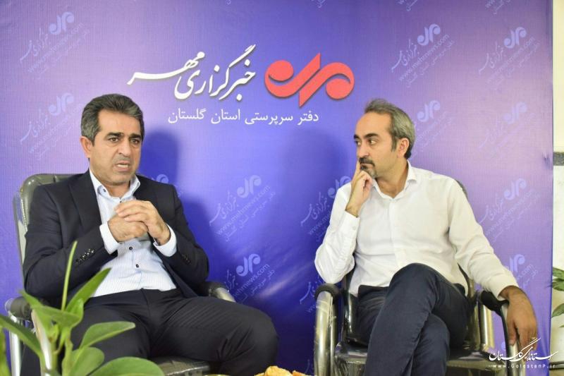 بازدید مدیرعامل شرکت شهرک های صنعتی گلستان از خبرگزاری مهر