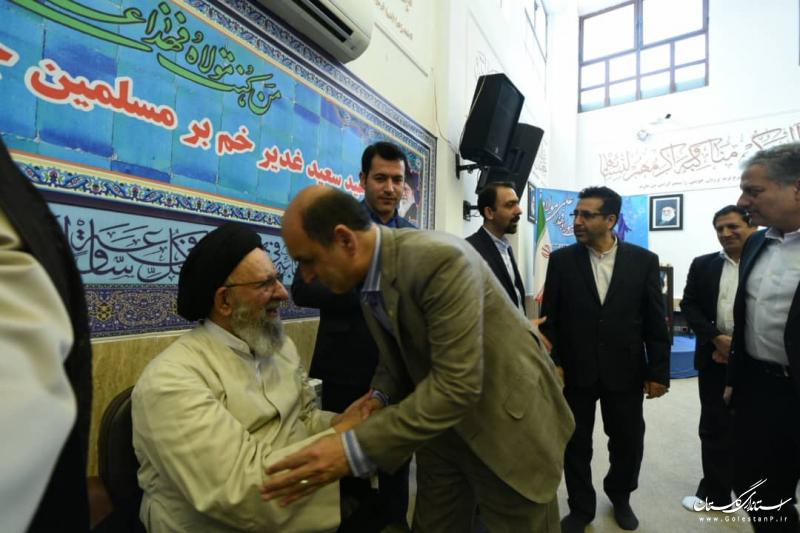 دیدار عیدانه استاندار گلستان با تعدادی از سادات مسوول استان