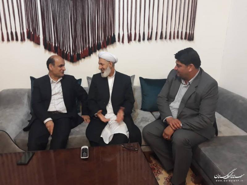 نماینده عالی دولت در استان با امام جمعه شهر آق قلا دیدار کرد