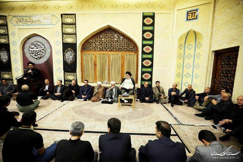 حضور استاندار گلستان در مراسم عزاداری حضرت اباعبدالله الحسین (ع)