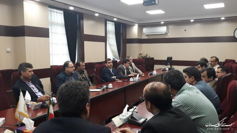 جلسه بررسی مشکلات طرح های تولیدی در بانک ملی