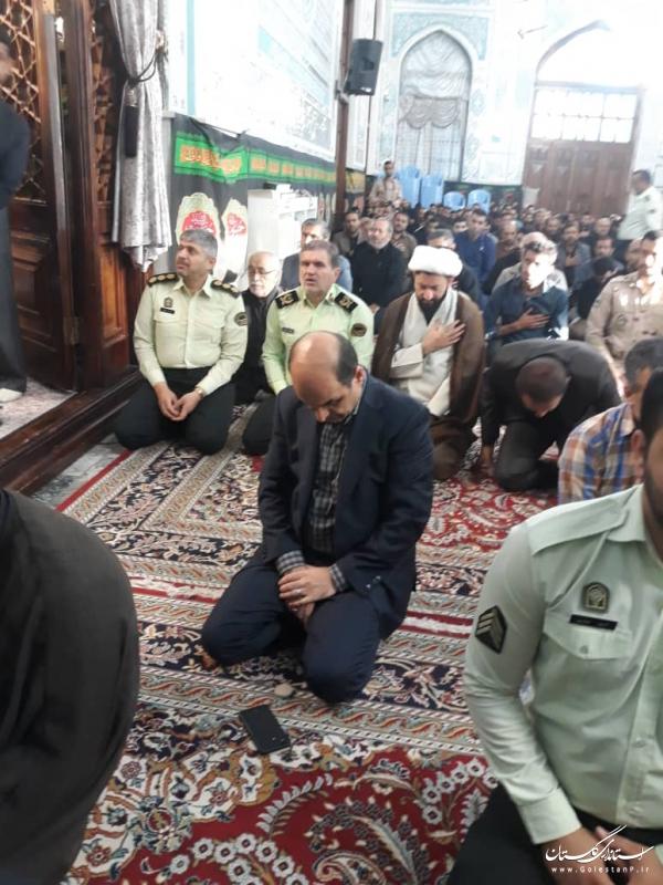 حضور استاندار گلستان در مراسم عزاداری اباعبدالله الحسین(ع)