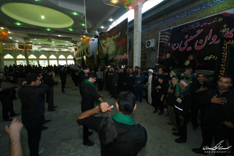 حضور استاندار گلستان در جمع عزاداران حسینی شهرستان کردکوی