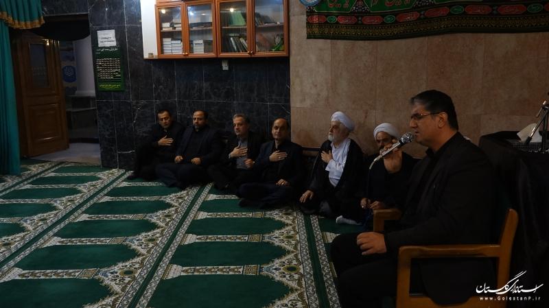 برگزاری مراسم عزاداری اباعبدالله الحسین (ع) در نمازخانه استانداری