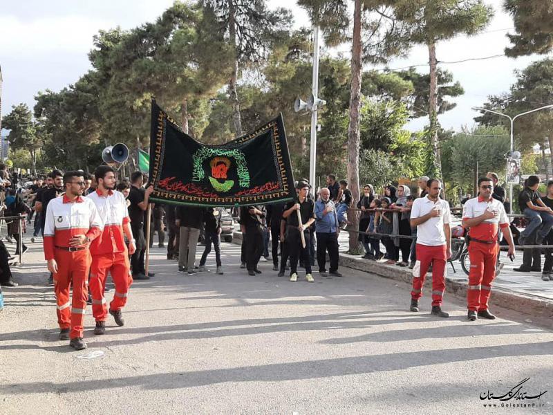 بهره مندی 1000 نفر از خدمات جمعیت هلال احمر گلستان در عاشورای حسینی