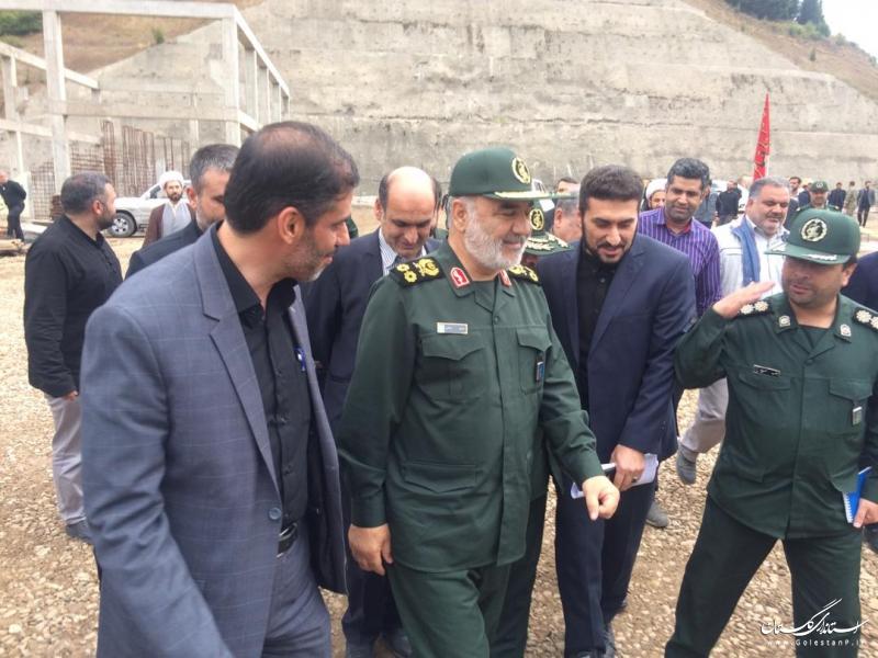 بازدید فرمانده کل سپاه پاسداران ازسد نرماب