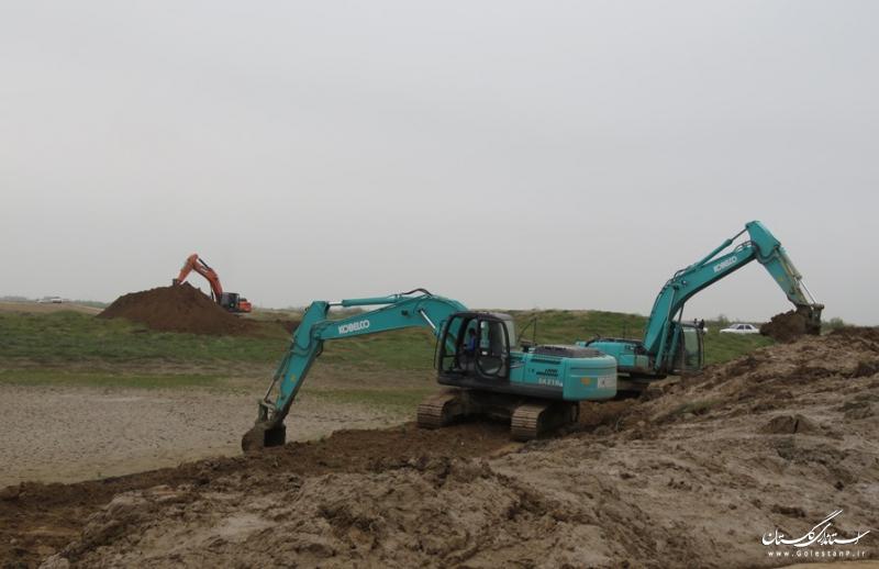 لایروبی و ساماندهی رودخانه های حوضه اترک، نکارود وخلیج گرگان در حال انجام است