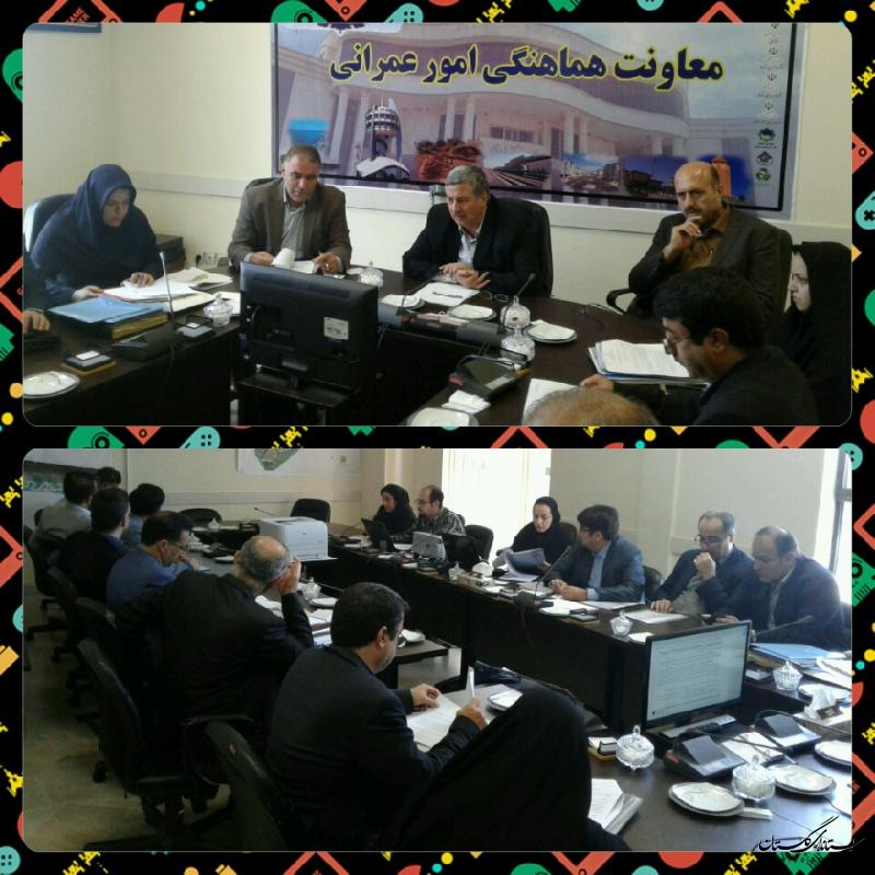 جلسه كميسيون ماده پنج شهر گرگان با حضور معاون عمرانی استانداری گلستان برگزار شد