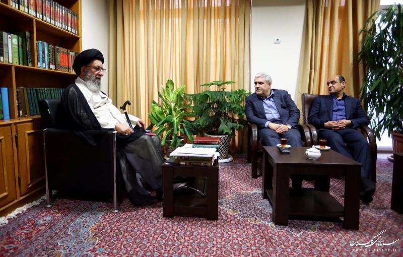 دیدار معاون رییس جمهوری و استاندار گلستان با نماینده ولی فقیه در استان