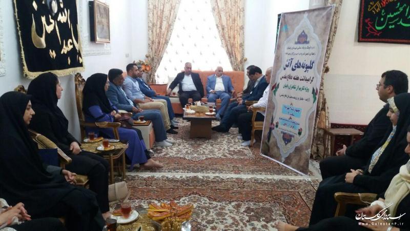 محفل شعر و ادب گلپونه های آتش در منزل شاعر ایثارگر رامیانی