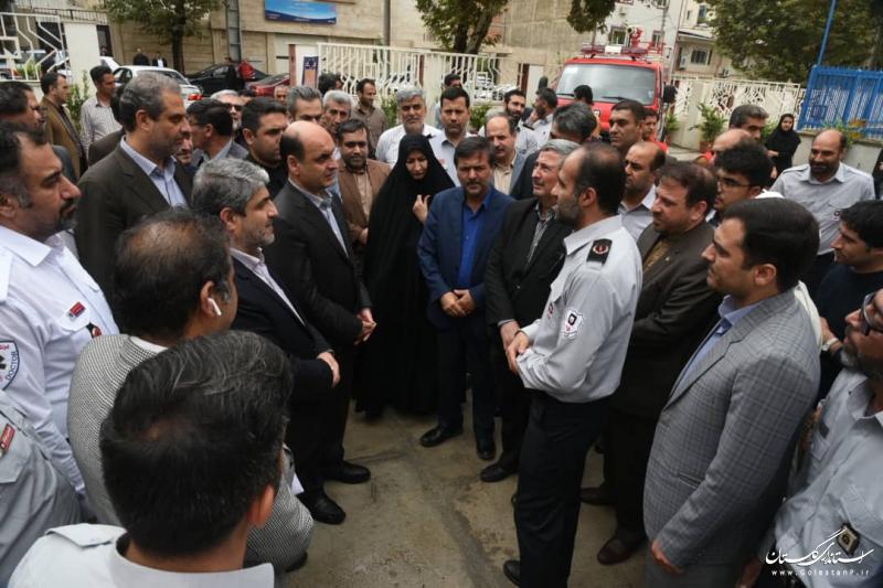 افتتاح ایستگاه شماره 7 سازمان آتش نشانی و خدمات ایمنی شهرداری گرگان