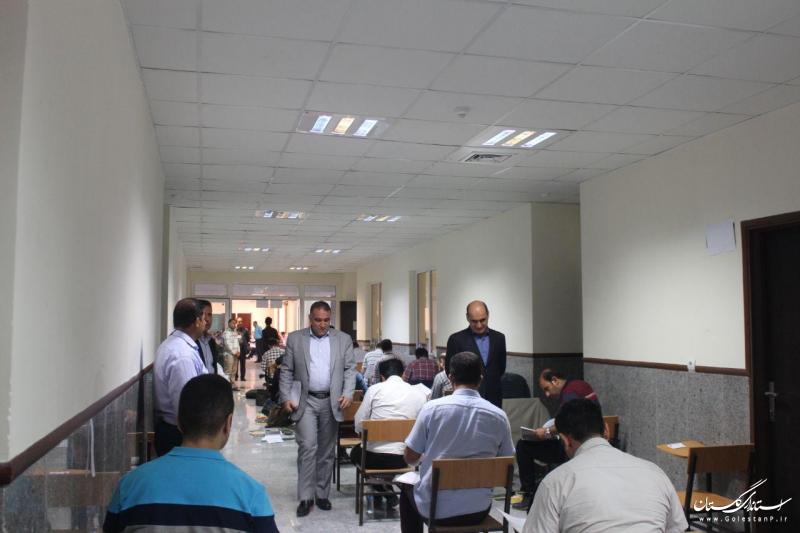 بازدید استاندار گلستان از آزمون ورود به حرفه مهندسی در استان