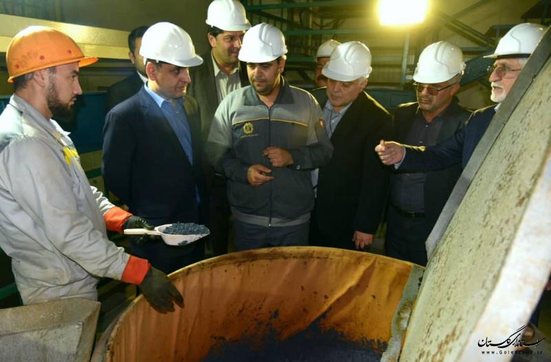 بازدید استاندار گلستان از کارخانه های فرآوری ید در آق قلا