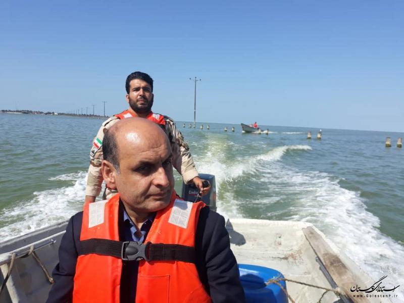 بازدید استاندار گلستان از جزیره آشوراده