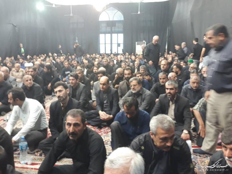 حضور استاندار گلستان در مراسم عزاداری اربعین حسینی