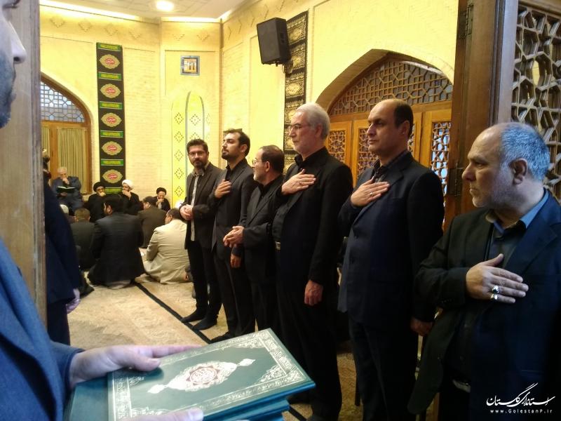 مراسم بزرگداشت مرحوم درازگیسو از طرف نماینده ولی فقیه در استان و استاندار گلستان برگزار شد