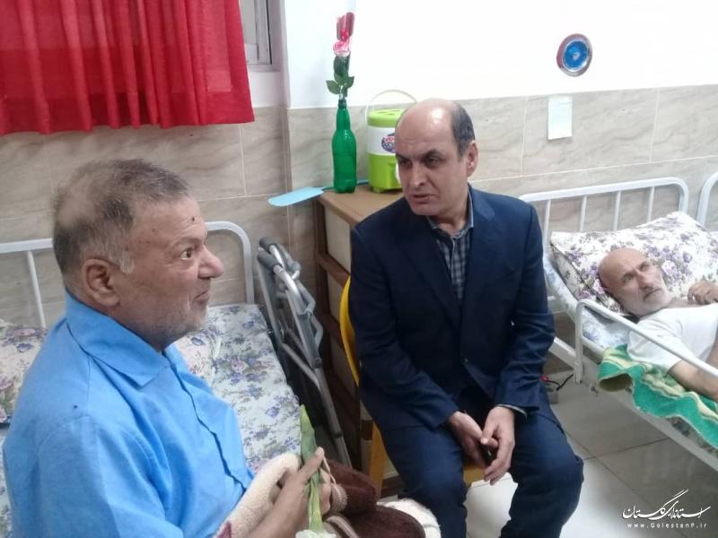 حضور استاندار گلستان در مرکز توانبخشی و نگهداری سالمندان