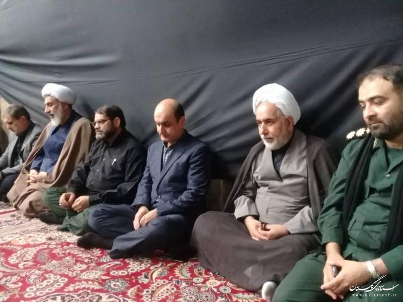 حضور استاندار گلستان در  مراسم عزاداری نیروهای مسلح در امام زاده عبدالله گرگان
