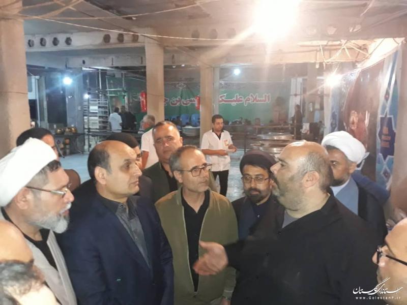 بازدید استاندار گلستان از موکب و هیات های مذهبی استان مستقر در مشهد مقدس