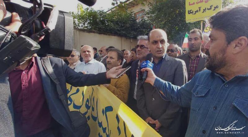حضور میلیونی در راهپیمایی 13 آبان نشانگر شناخت ملت ایران از چهره کینه توز آمریکایی ها است