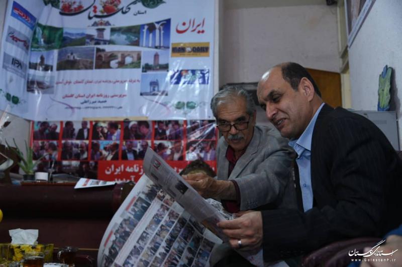 بازدید استاندار گلستان از دفتر سرپرستی روزنامه ایران در استان
