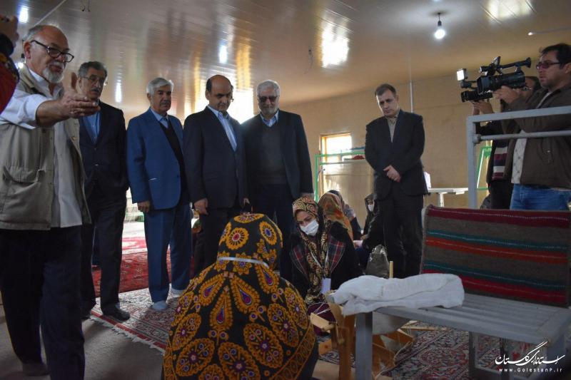 بازدید استاندار گلستان و رییس اتاق بازرگانی تهران از همایش هنرمندان صنایع دستی در گمیشان
