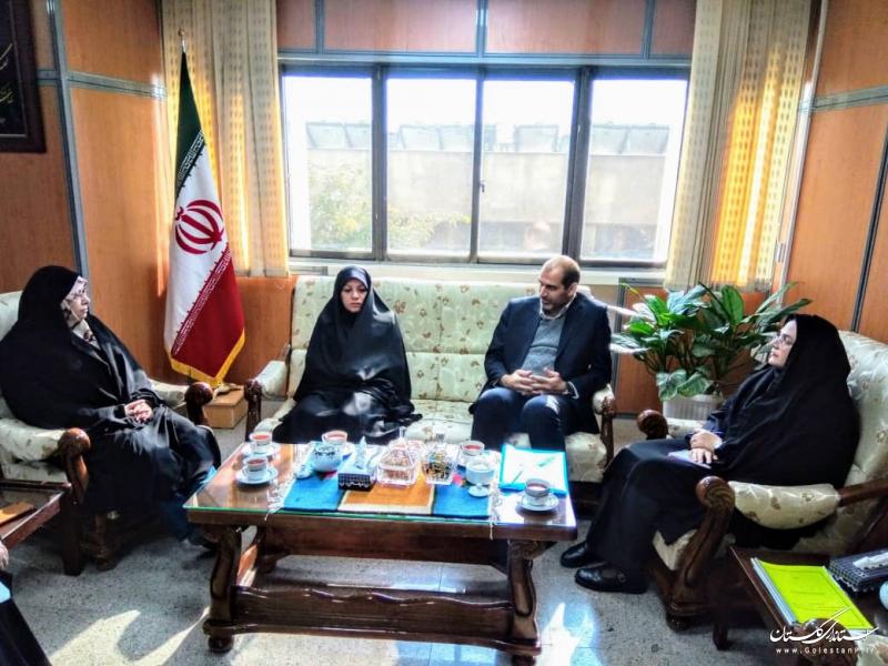مدیرکل آموزش فنی و حرفه ای استان گلستان با مشاور وزیر کشور در امور زنان و خانواده دیدار کرد