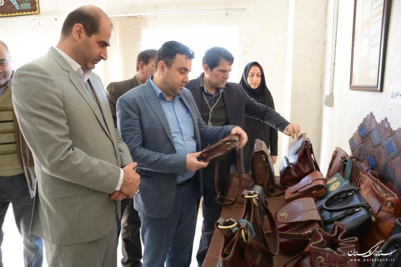 بازدید دستگاه های اجرایی عضو شورای هماهنگی استان از کارگاه های آموزشی مرکز خواهران گرگان