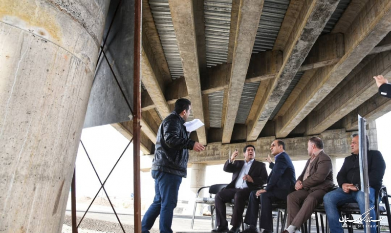 بازدید سرزده استاندار گلستان از پروژه پل روگذر در حال احداث شهر فاضل آباد