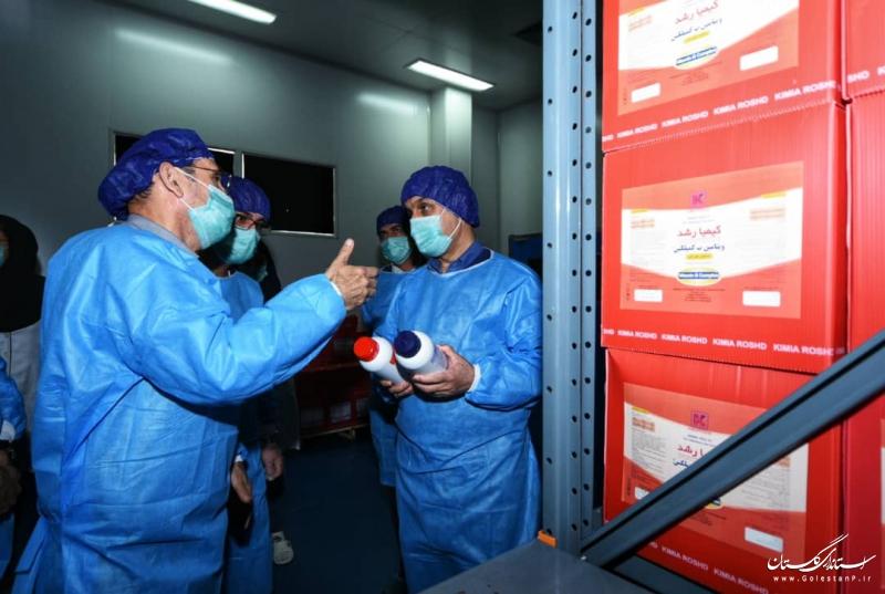 بازدید استاندار گلستان از واحدهای تولیدی در شهرک صنعتی آق قلا