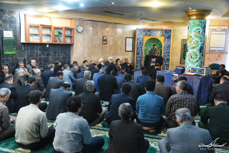 برگزاری مجلس بزرگداشت سپهبد شهید قاسم سلیمانی در نمازخانه استانداری