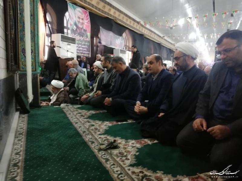 حضور استاندار گلستان در نماز جمعه شهرستان گنبد کاووس