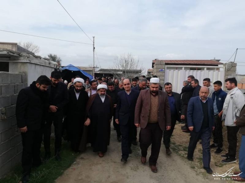 حضور استاندار گلستان در مراسم یادبود جانباختگان حادثه واژگونی اتوبوس تهران به گنبدکاووس