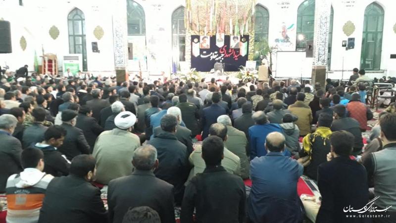 حضور استاندار گلستان در مراسم گرامیداشت سردار شهید قاسم سلیمانی و یادواره شهدای شهر دلند